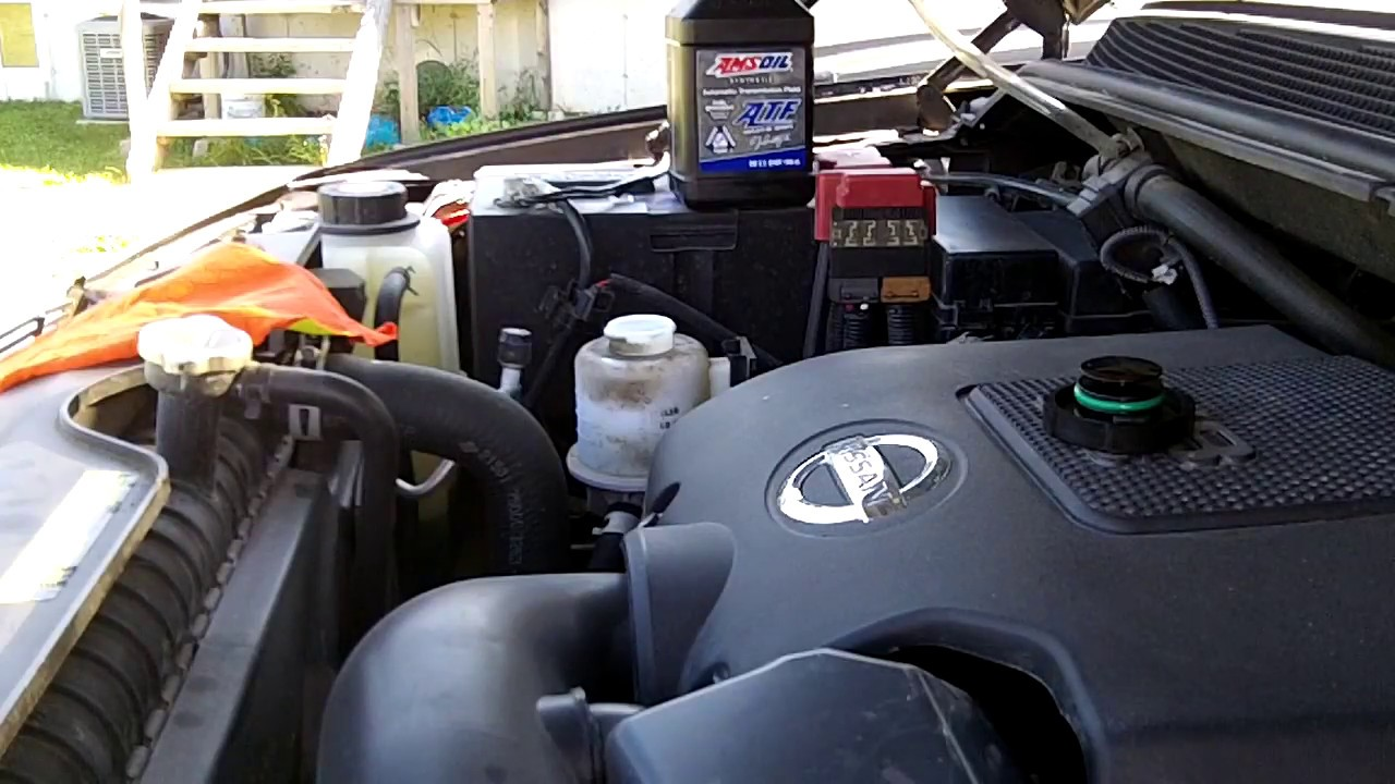 nissan titan power steering fluid change youtube. Black Bedroom Furniture Sets. Home Design Ideas