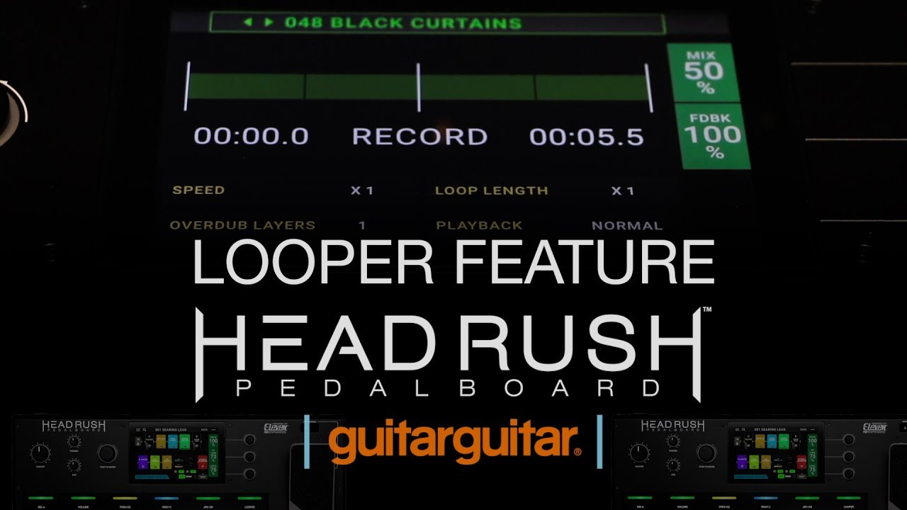 Headrush Pedalboard | Looper Feature