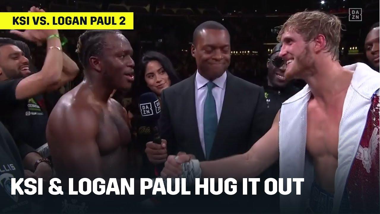 Download KSI & Logan Paul Hug It Out After Rematch