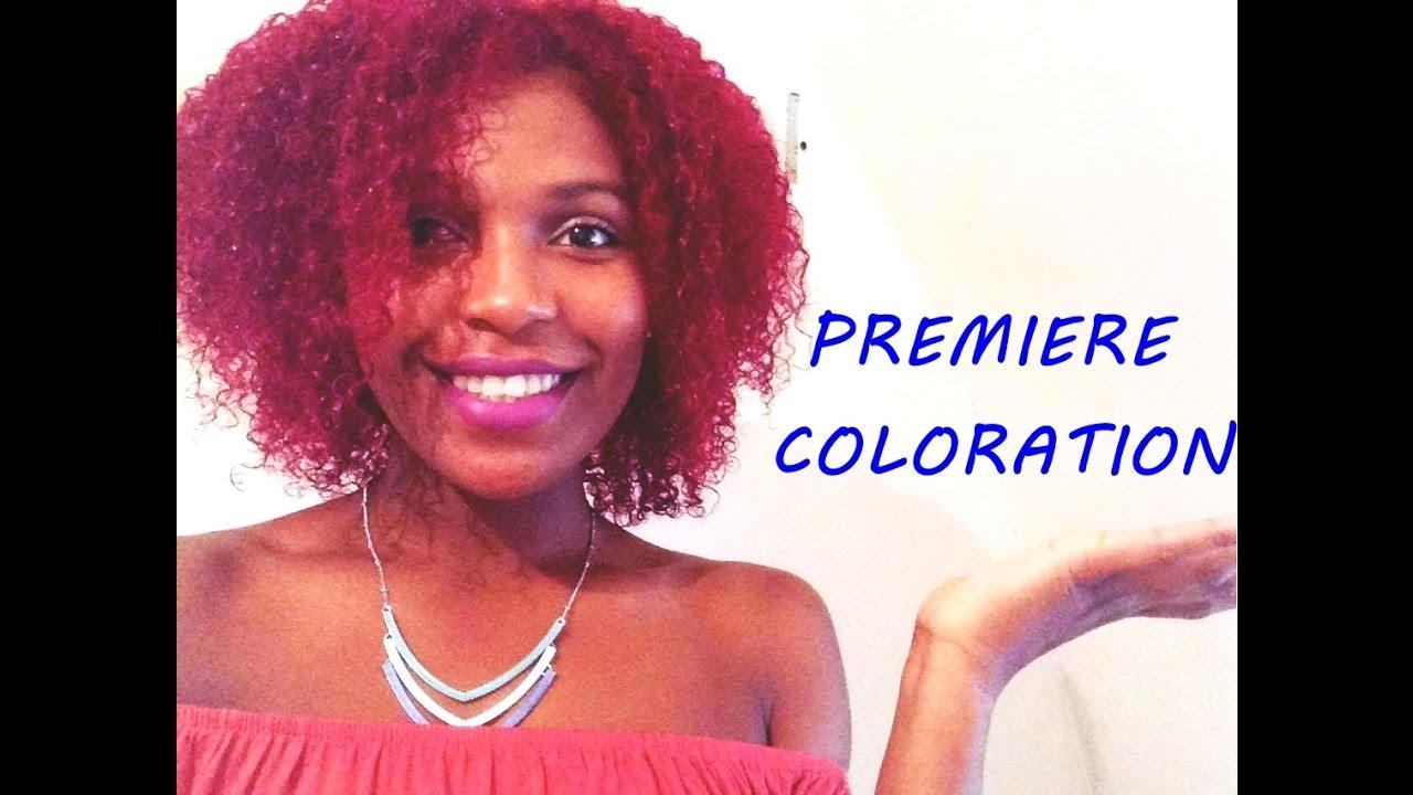 ma première coloration sur cheveux frisés naturels - youtube