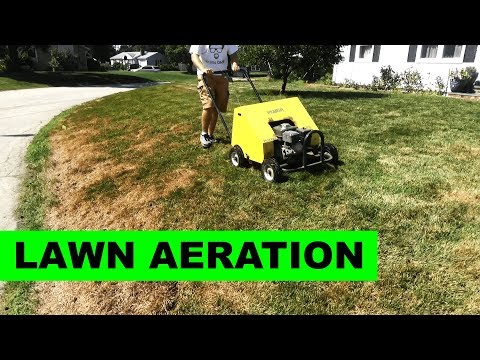 How To Aerate Your Lawn With A Core / Plug Aerator