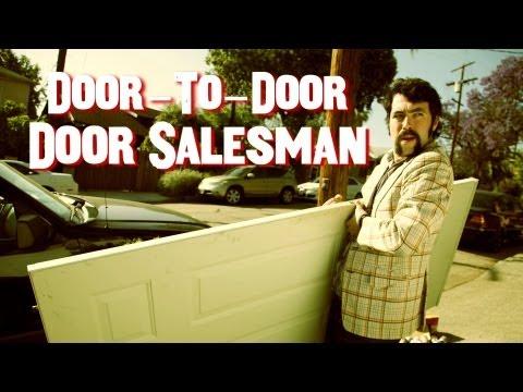 Door-to-Door Door Salesman