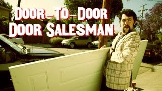 Door-to-Door Door Salesman