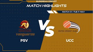 Match 31 - PSV vs UCC | Highlights | FanCode ECS Czech Republic Day 8 | Prague 2021 | ECS21.322