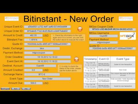 Using Bitinstant functions