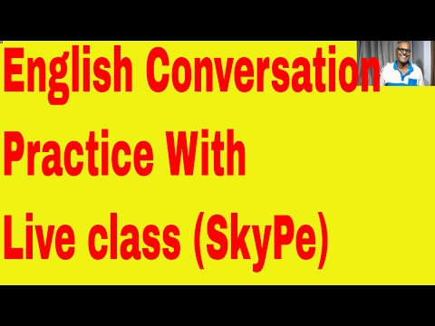 English conversation practice with live class through skype! Indian English Teacher Here!