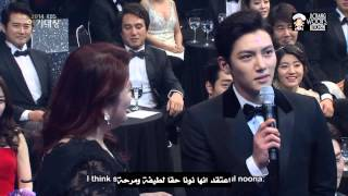 Video Ji Chang Wook And Park Min Young at 2014 KBS Drama Awards   ArabicSub download MP3, 3GP, MP4, WEBM, AVI, FLV Mei 2018