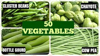 50 Vegetable Names in English # How many you know?