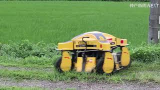 無線操縦で草刈り楽々