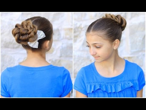 Hairstyles For Prom Cgh : Rope twisted bun cute prom hairstyles youtube