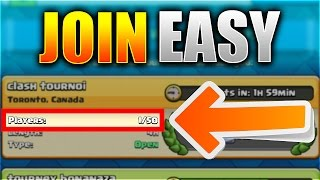 JOIN TOURNAMENTS ALMOST EVERYTIME!? | Clash Royale EASY Trick To Find Tournaments!