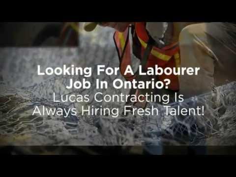 Labourer Work Ottawa - Lucas Contracting is Hiring!