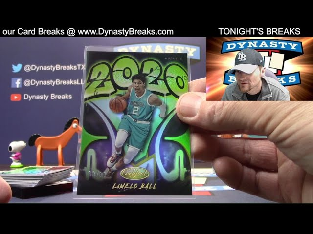 2020 21 Certified Basketball Card 6 Box Half Case Break #6   Sports Cards