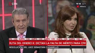 Dictan la falta de mérito para Cristina Kirchner en la causa de la ruta del dinero K