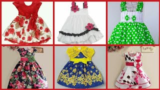 Beautyful and Creative Baby Cotton Comfortable Frocks Designs