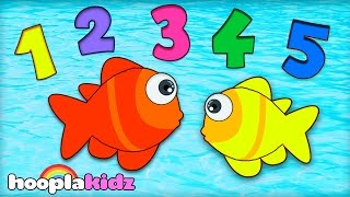 Numbers Song 12345 Once I Caught A Fish Alive Nursery Rhymes Collection HooplaKidz