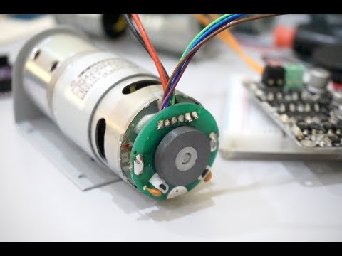 Measuring DC Motor RPM Through Built-in Hall Sensor Encoder With Arduino  [BM]