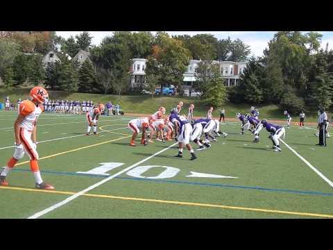 Woods TD catch McDonogh/Mount St. Joseph football 9/28/13
