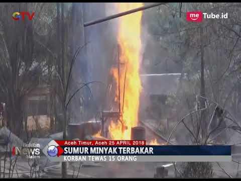 Korban Tewas Kebakaran Sumur Minyak di Aceh Bertambah Jadi 15 Orang - BIM 25/04