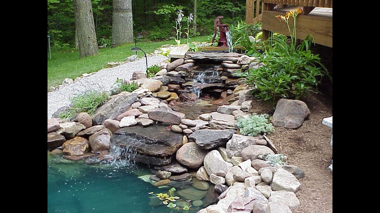 Garden Ponds And Waterfalls