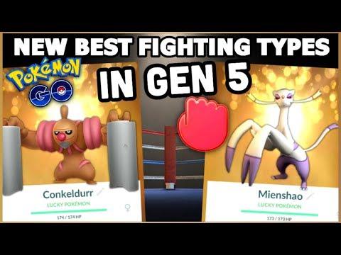 NEW BEST GEN 5 FIGHTING TYPES IN POKEMON GO | CONKELDURR & MIENSHAO