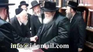 Belzer Rebbe meets with R' Elyashiv Aseres Yemei Teshuva 5771