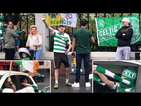 Celtic Fans Celebrate In Belfast After Being Crowned Champio