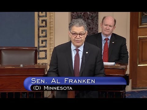Sen. Franken Delivers Final Senate Speech - Full Event