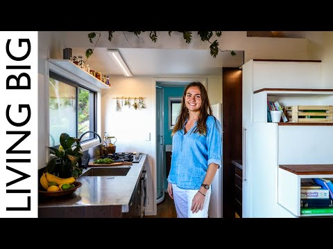 Young Woman's Beautiful Tiny House Gives Freedom From Rent / Mortgage