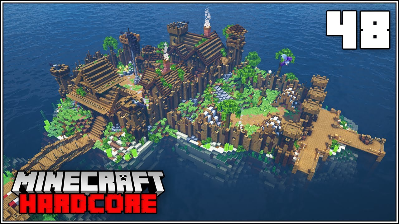 Minecraft Hardcore Let's Play - THE PIRATE FORTRESS!!! - Episode 48