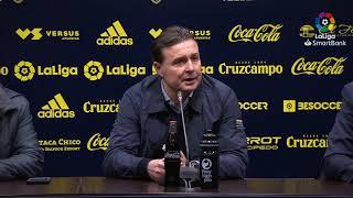 Rueda de prensa de  Cristóbal Parralo tras el Cádiz CF vs Real Racing Club (1-0)