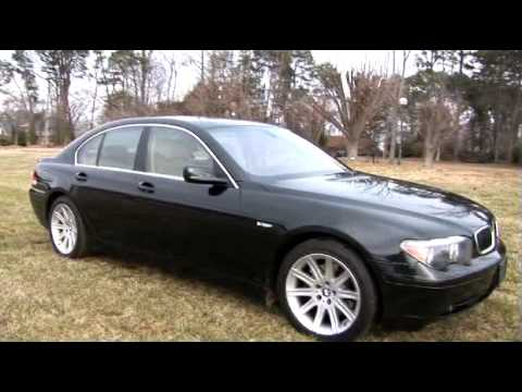 BMW 745i 2004 Black