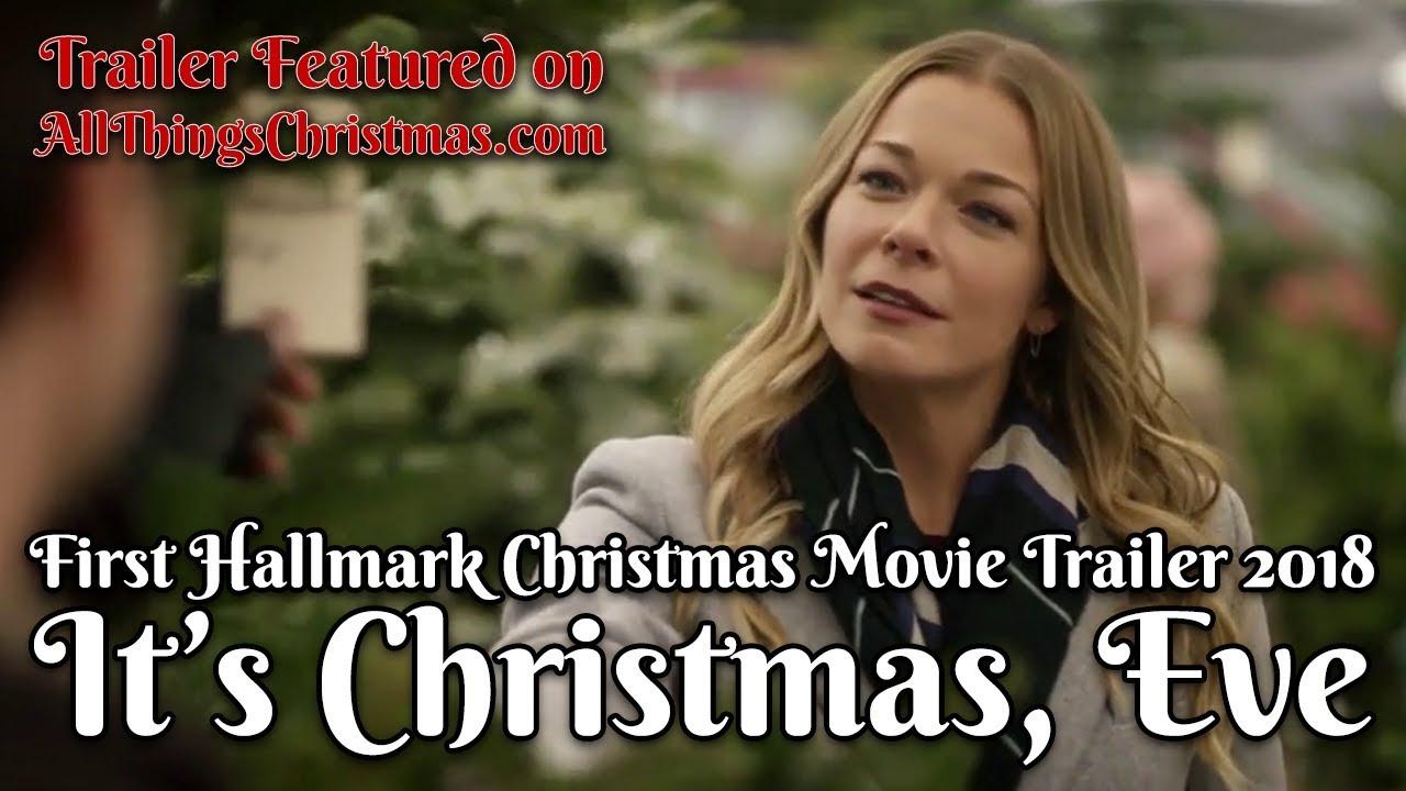 First Hallmark Christmas Movies 2018 - It's Christmas, Eve Trailer - YouTube