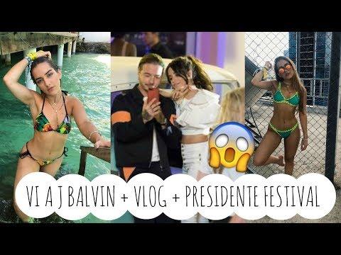 VI A J BALVIN VLOG   Festival Presidente Santo Domingo   Sincerely Mvu
