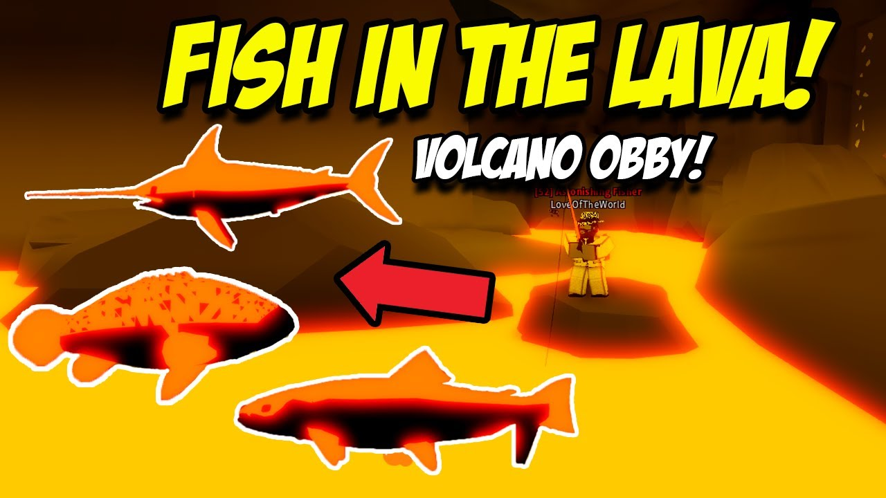 How To Fish In The Lava In Roblox Fishing Simulator Youtube