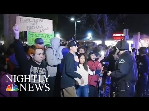 Protests After Off-Duty California Officer Fires Gun During Clash With Teens  NBC Nightly News