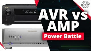 A/V Receiver vs Amplifier | What has more power?