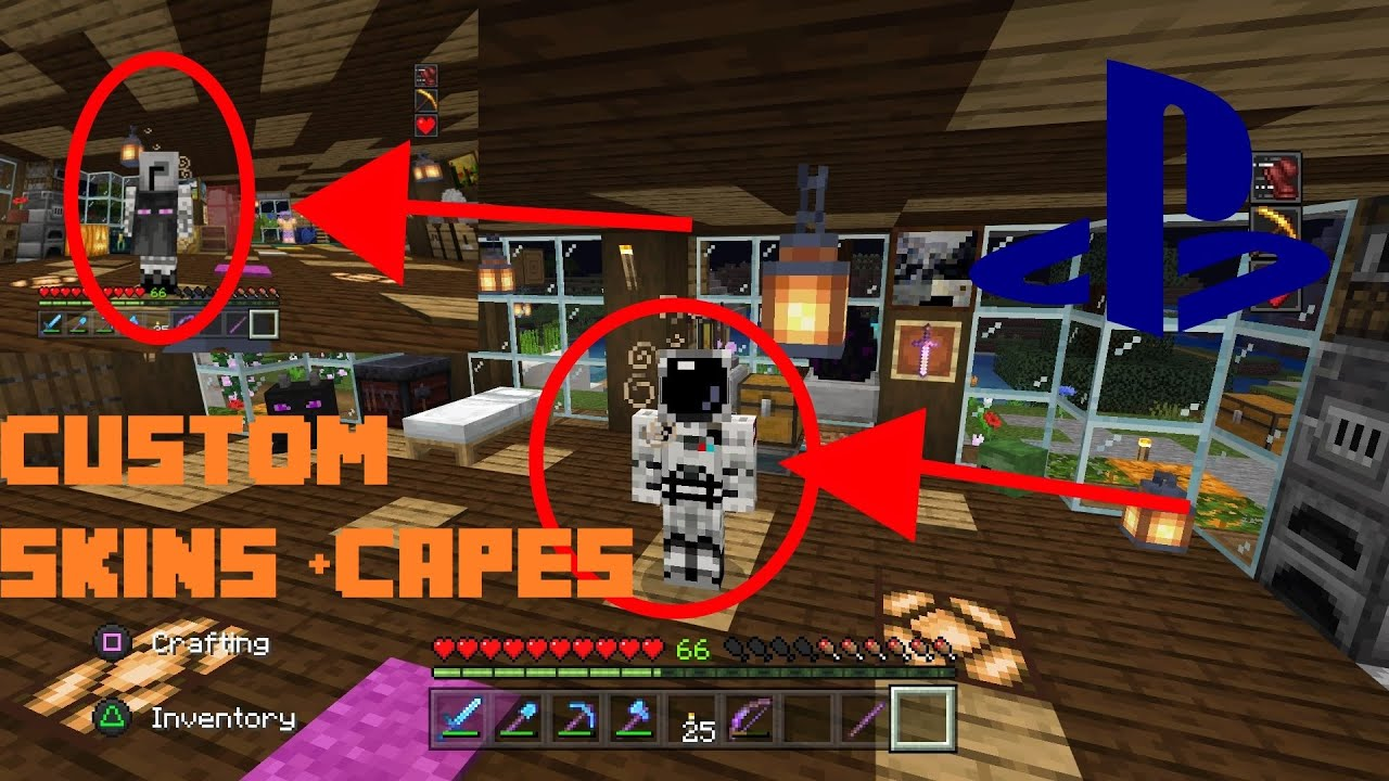 Minecraft PS4 Bedrock Edition - How to Get Custom Skins ...