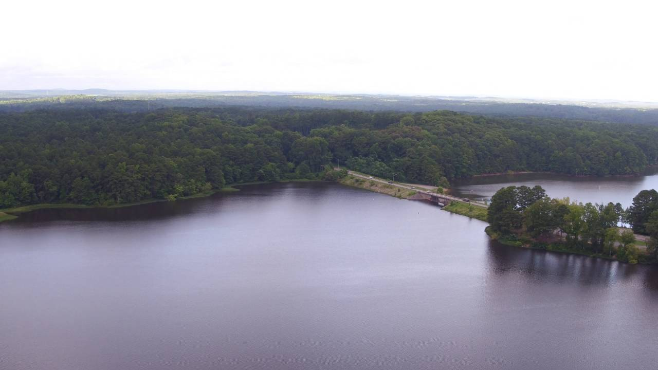 Lake Acworth Beach Drone Footage In Ga