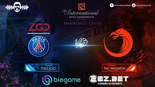 TNC Predator vs PSG.LGD  | Best of 2 | Group Stage | The International 9