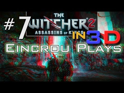 [Witcher 2] Let's Play Pt.7 - Greater Rotfiend (3D Video)