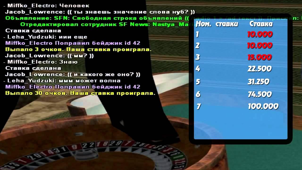 Ходы в казино самп игра казино азартные игровые автоматы