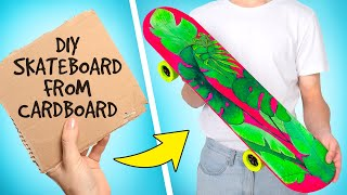 Easy Way To Make A Personalized Cardboard Skateboard