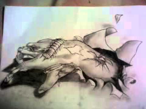 Lukisan Keren Hand Jombie Drawing Pensil 3d Ilusi Eyes Xxx Ilusi