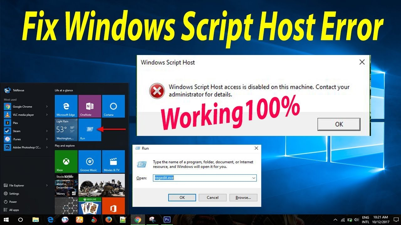 how to disable windows script host pop ups