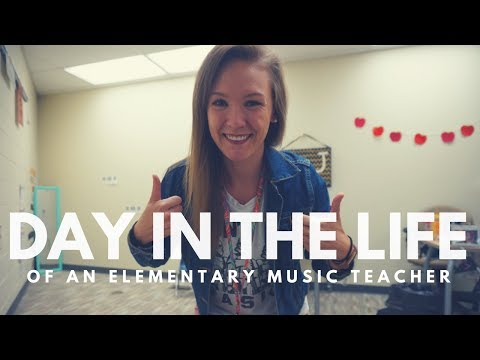 DAY IN THE LIFE  elementary music teacher