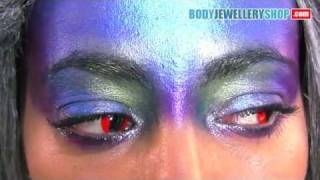 Red Cat Eye Color Contact Lenses