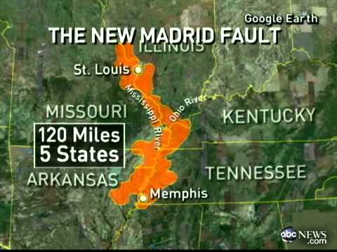 Americas Risk New Madrid Fault Lines Quake Divide The US May - Fault line map us