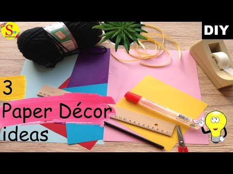 3 Amazing paper craft ideas to decorate your home | ceiling hanging decor | diy home decor