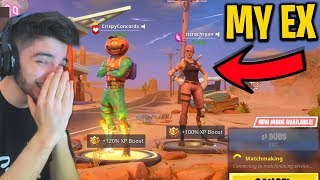 Playing Fortnite with my Ex-Girlfriend *VERY AWKWARD*